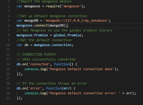 Nodejs –使用MongooseJS将MongoDB与Node应用程序连接1