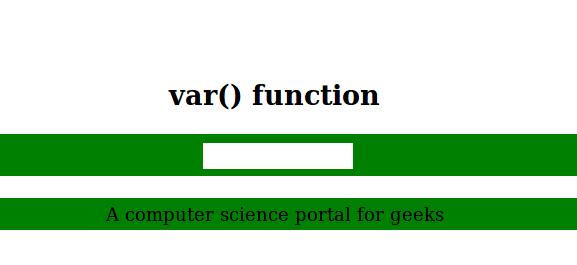 CSS如何使用var()函数?代码示例1
