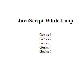 JavaScript while循环语句例子详细指南1