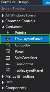 C# FlowLayoutPanel类用法介绍2