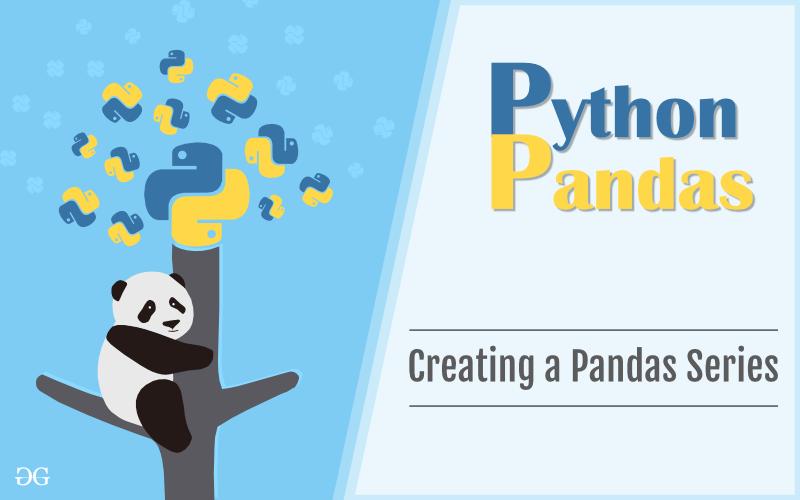 创建Pandas Series1